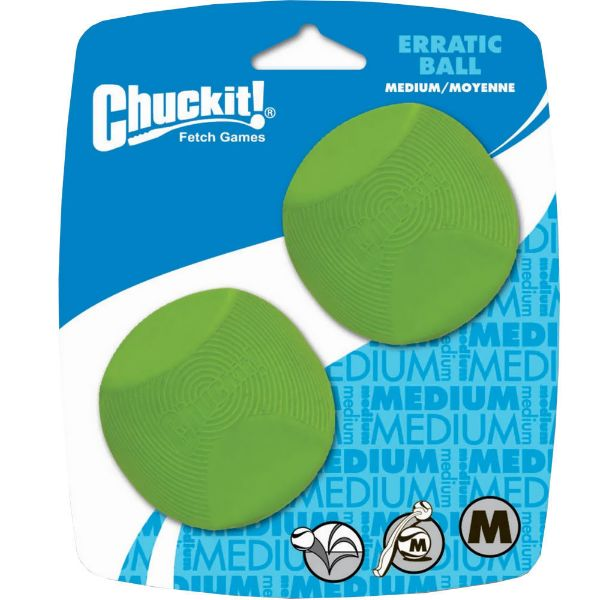 Picture of Chuckit Erratic Ball 2 Pack Medium