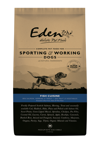 Picture of Eden Dog - 80/20 Fish Cuisine Working & Sporting Dog Small Kibble 15kg