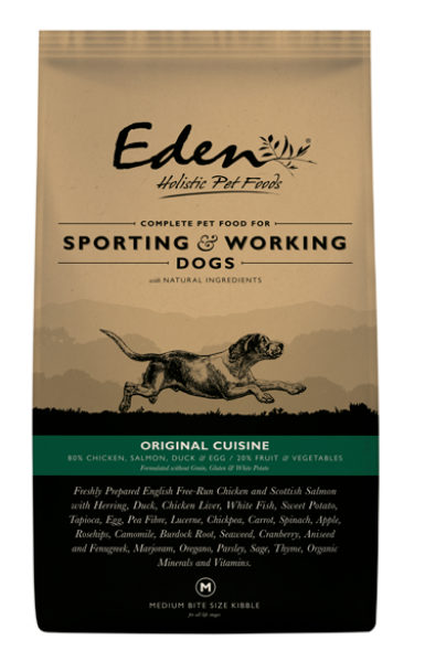 Picture of Eden Dog - 80/20 Original Cuisine Working & Sporting Dog Small Kibble 15kg