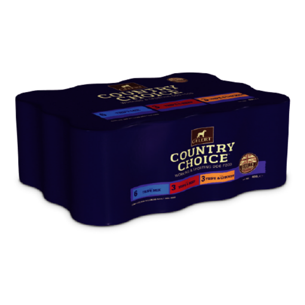 Picture of Gelert Country Choice Adult Working Dog Tripe Variety Cans 6x1200g