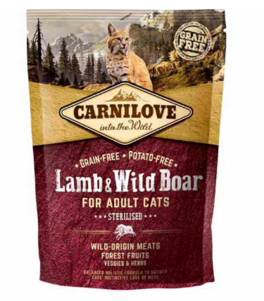 Picture of Carnilove Cat - Adult Sterilised Lamb & Wild Boar 400g