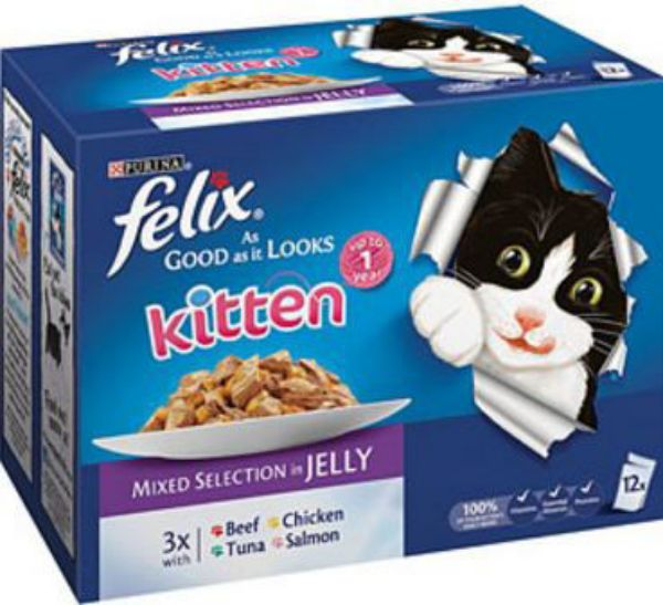 Picture of Felix As Good as it Looks Kitten Box Mixed Selection 12x100g