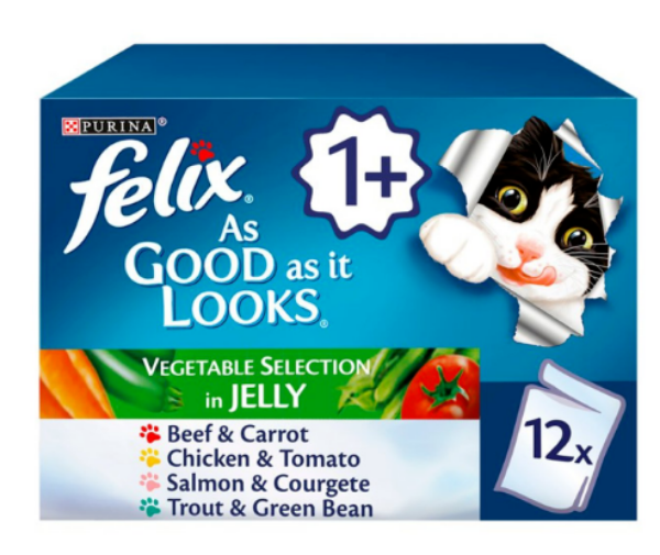 Picture of Felix As Good As It Looks Pouch Box Country Recipes Veg 12x100g