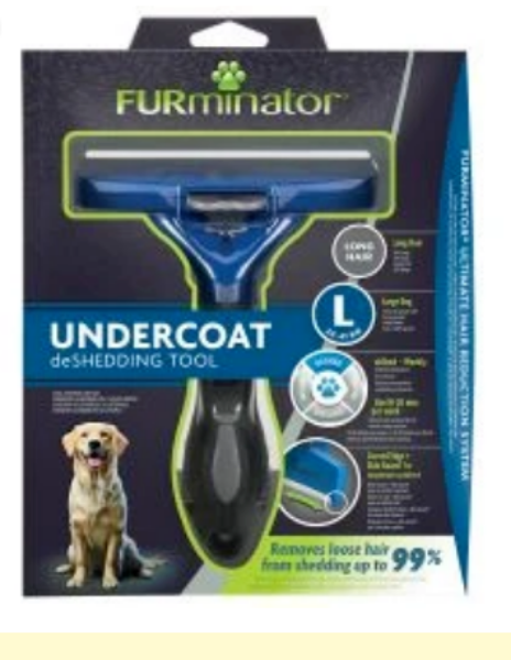 Picture of Furminator Deshedding Tool Long Hair Medium Dog