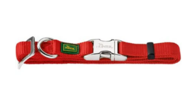 Picture of Hunter Collar Vario Basic Alu-strong Large  4/25 Nylon Red