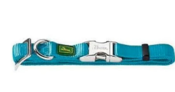 Picture of Hunter Collar Vario Basic Alu-strong  Size S/15  Nylon Teal
