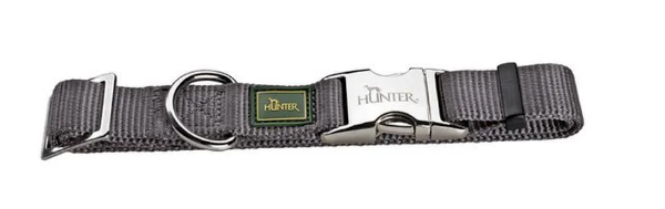 Picture of Hunter Collar Vario Basic Alu-strong Size M/20  Nylon Grey