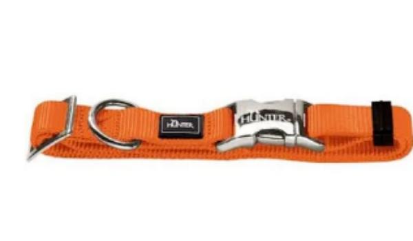 Picture of Hunter Collar Vario Basic Alu-strong Size M/20  Nylon Orange