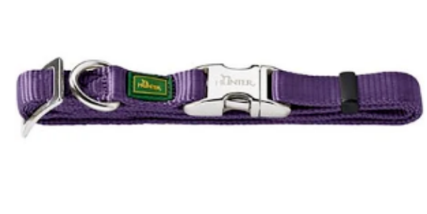 Picture of Hunter Collar Vario Basic Alu-strong Size M/20  Nylon Violet
