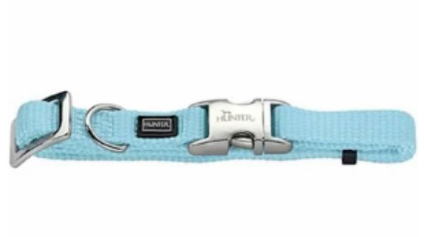 Picture of Hunter Collar Vario Basic Alu-strong Size S/15  Nylon Light Blue