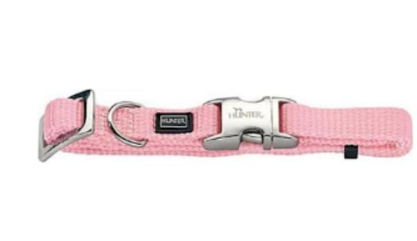 Picture of Hunter Collar Vario Basic Alu-strong Size S/15 Nylon Light Pink