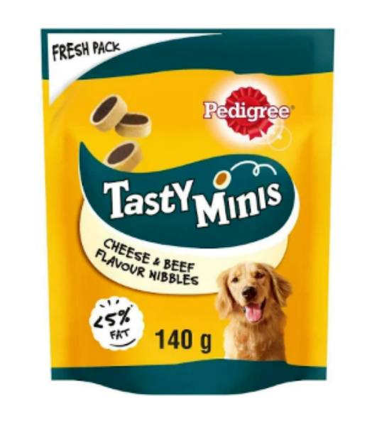 Picture of Pedigree Tasty Minis Cheesy Nibbles Cheese & Beef 140g