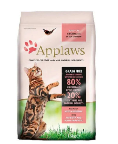 Picture of Applaws Cat Food Dry Salmon 400g