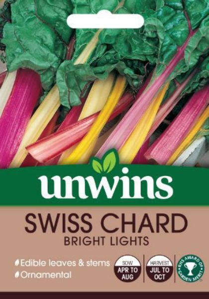 Picture of Unwins Swiss Chard Bright Lights Seeds