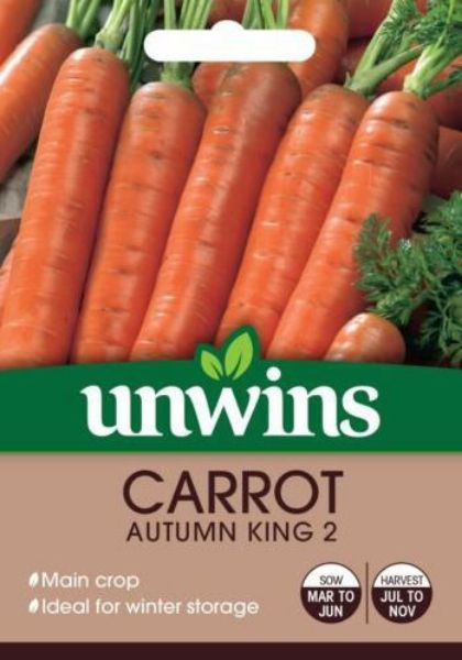 Picture of Unwins Carrot Autumn King 2 Seeds