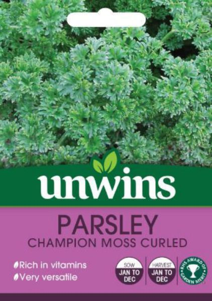 Picture of Unwins Herb Parsley Champion Moss Curled Seeds