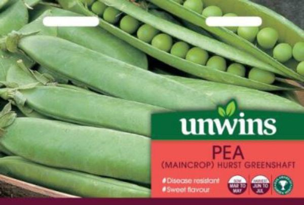 Picture of Unwins Pea (Maincrop) Hurst Greenshaft Seeds
