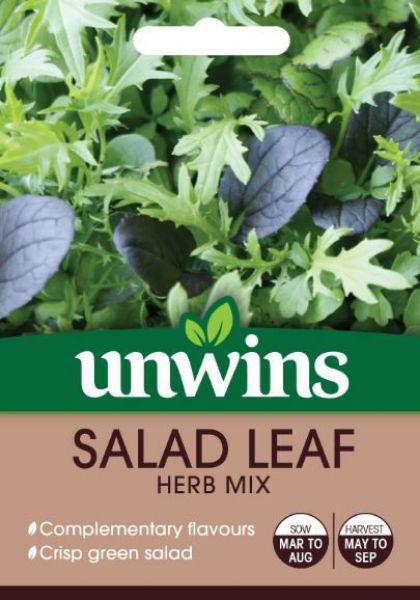Picture of Unwins Salad Leaf Herb Mix Seeds