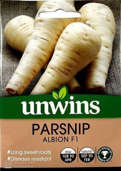 Picture of Unwins Parsnip Albion F1 Seeds