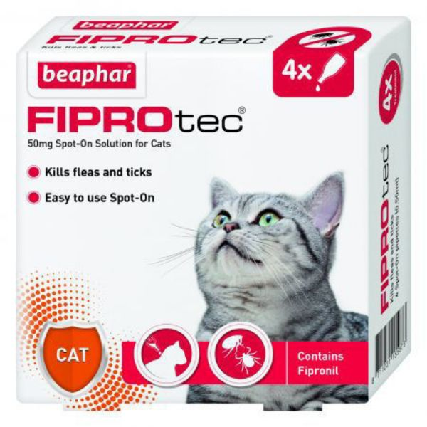 Picture of Beaphar Fiprotec Cat Spot On 50mg 4 Pipettes