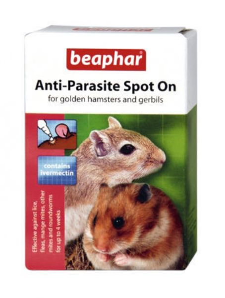 Picture of Beaphar Anti Parasite Spot On Hamsters / Gerbils 2 X Pipett