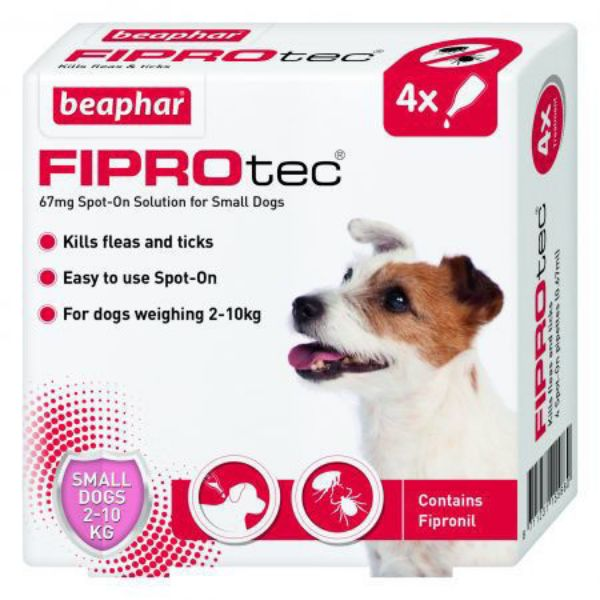 Picture of Beaphar Fiprotec Small Dog Spot On 67mg 4 Pipettes
