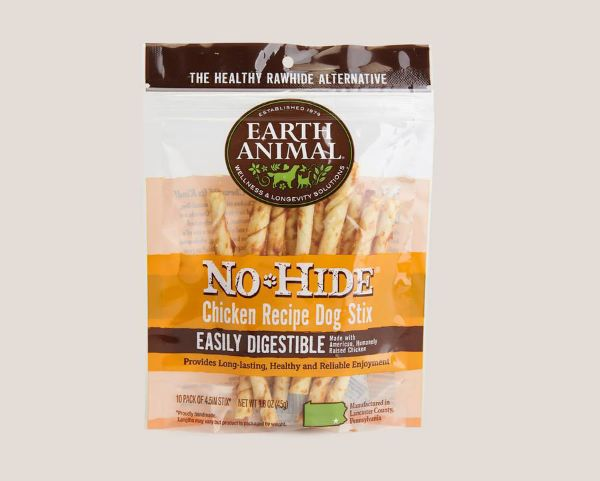 Picture of Earth Animal Dog - No Hide Chicken Dog Stix 10pk 45g