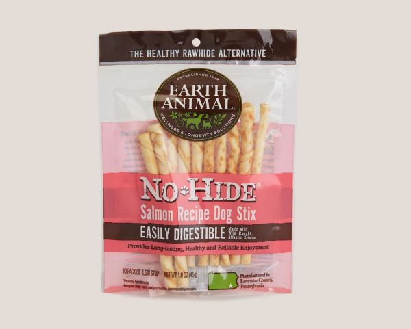 Picture of Earth Animal Dog - No Hide Salmon Dog Stix 10pk 45g