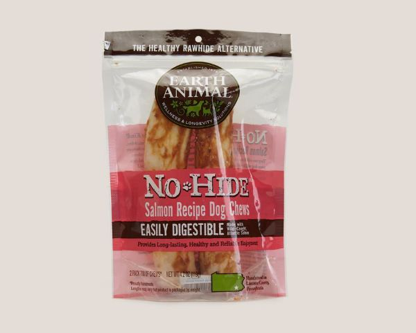 Picture of Earth Animal Dog - No Hide Salmon Medium Chews 2pk 120g