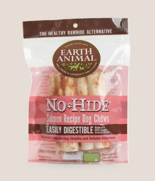 Picture of Earth Animal Dog - No Hide Salmon Small Chews 2pk 68g