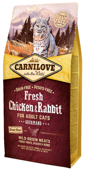 Picture of Carnilove Cat - Adult Cat Fresh Chicken & Rabbit 2kg