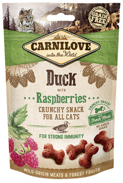 Picture of Carnilove Cat - Duck With Raspberries Cat Treats 50g