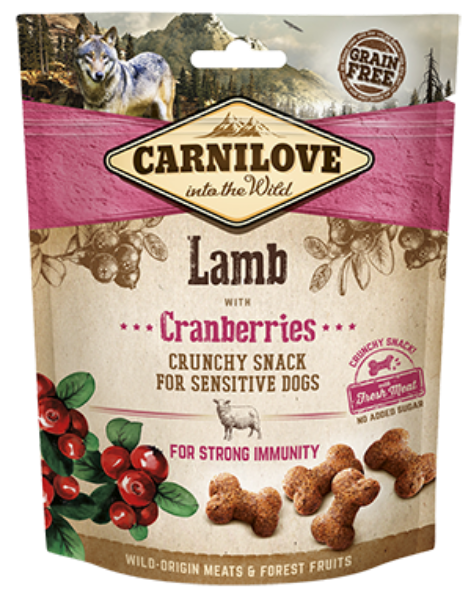 Picture of Carnilove Dog - Lamb With Cranberries Dog Treats 200g