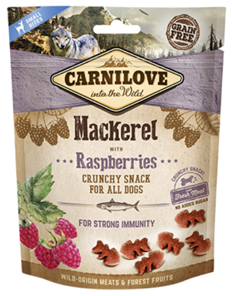 Picture of Carnilove Dog - Mackerel With Raspberries Dog Treats 200g