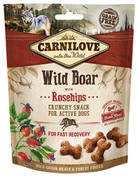 Picture of Carnilove Dog - Wild Boar With Rosehips Dog Treats 200g