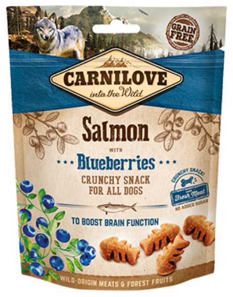 Picture of Carnilove Dog - Salmon With Blueberries Dog Treats 200g