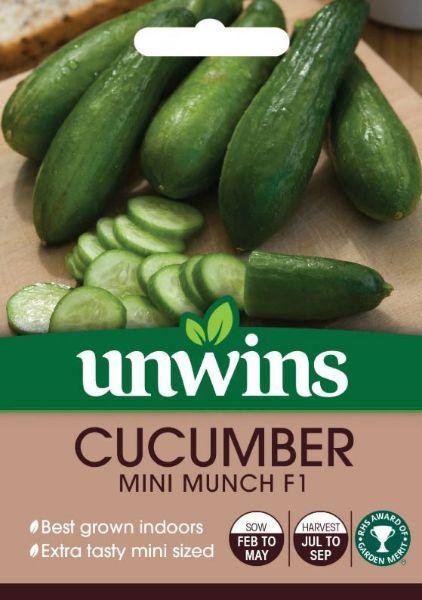 Picture of Unwins Cucumber Mini Munch F1 Seeds