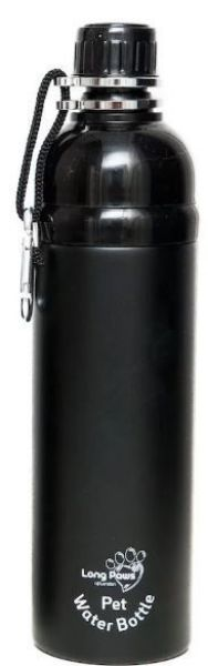 Picture of Long Paws Water Bottle - Black 750ml
