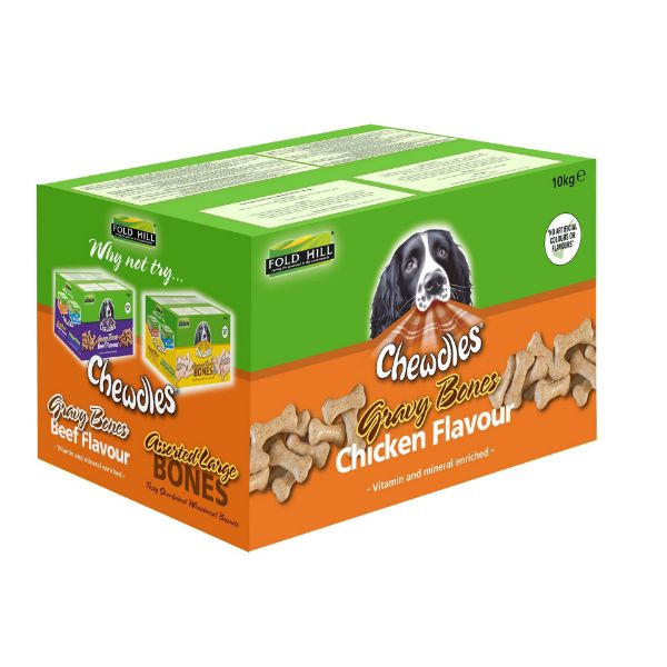 Picture of Chewdles Dog - Chicken Gravy Bones 10kg