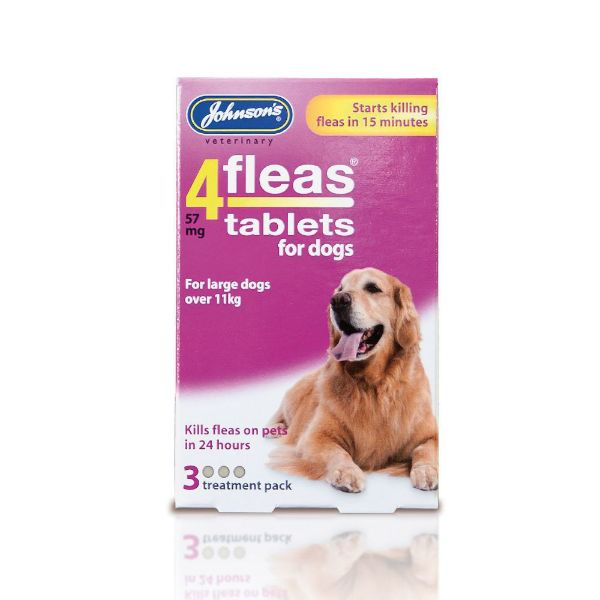 Picture of Johnsons 4Fleas Tablets Large Dogs 3s