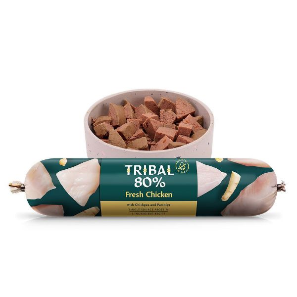 Picture of Tribal 80% Gourmet Sausage Complete Wet Food Chicken 750g