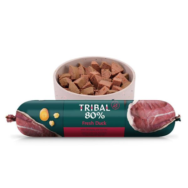 Picture of Tribal 80% Gourmet Sausage Complete Wet Food Duck 750g