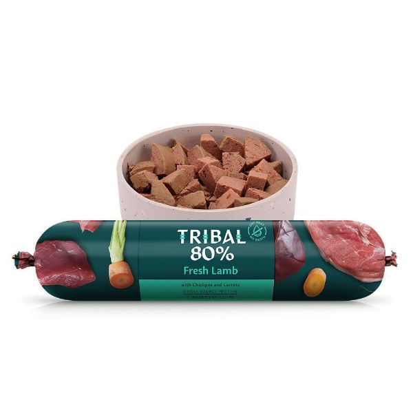 Picture of Tribal 80% Gourmet Sausage Complete Wet Food Lamb 750g
