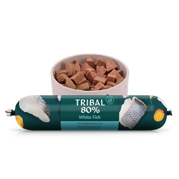 Picture of Tribal 80% Gourmet Sausage Complete Wet Food White Fish 750g