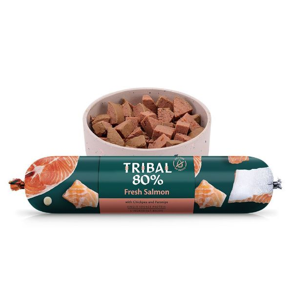 Picture of Tribal 80% Gourmet Sausage Complete Wet Food Salmon 750g