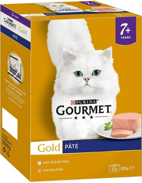Picture of Gourmet Gold Senior Pate Salmon and Ocean Fish  8x85g