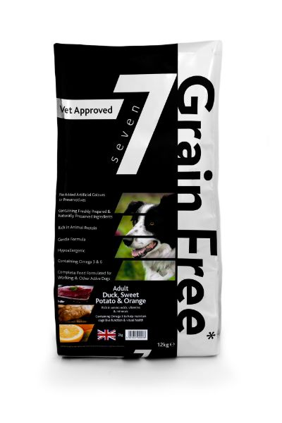 Picture of Seven Dog - Adult Grain Free Duck with Sweet Potato & Orange 12kg