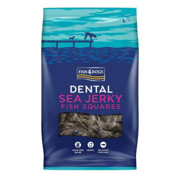 Picture of Fish 4 Dogs Dog - Sea Jerky Squares 100g