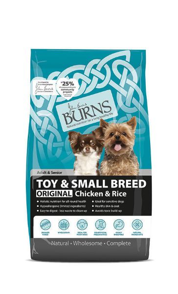 Picture of Burns Dog - Adult Toy & Small Breed Chicken & Rice