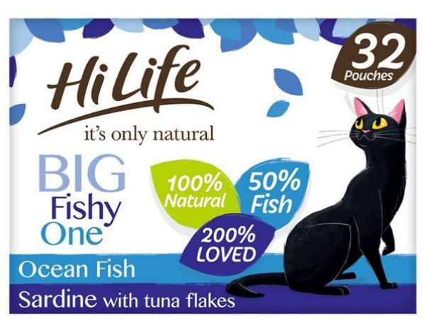 Picture of Hi Life Its Only Natural Pouch The Fishy One In Jelly 32 X 70g